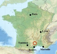 location map cevennes france europe